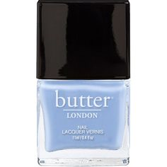 Periwinkle Blue Creme Nail Polish - Sprog : butter LONDON ($15) ❤ liked on Polyvore featuring beauty products, nail care, nail polish, nails, makeup, beauty, fillers, butter london nail polish, butter london nail lacquer and butter london