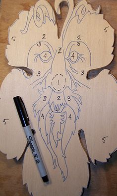 working with levels in relief wood carving