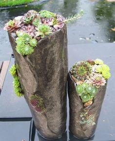 diy betons ule zum bepflanzen pflanzturm aus beton. Black Bedroom Furniture Sets. Home Design Ideas