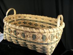 Cherokee Biscuit Basket in Green Offered by NorthernPineStudio on Bonanza.com