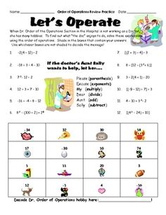 Order of Operations Math Game | Math, Love it and Of