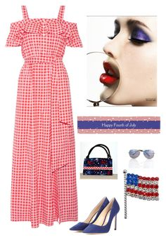 """""""Happy 4th of July!"""" by kotnourka ❤ liked on Polyvore featuring Draper James and Jimmy Choo"""