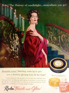 "Revlon ""Touch and Glow"" Makeup Ad, 1957"