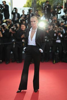 Charlize Theron In Dior at The Last Face premiere.