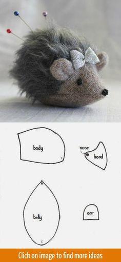 Cute pin cushion pattern: Hedgehog / Шьем игольницу в виде ежика, выкройка