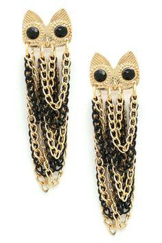 Owl My Ear Drop Earrings by Eye Candy Los Angeles on @HauteLook