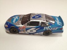 Nascar Diecast 1:24 Mark Martin #6 2001 Pfizer Ford Taurus Preferred Limited Edition - 1 of 10,080 with Certificate of Authenticity by Team Caliber Preferred