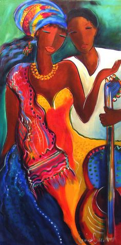 Lyrical Calypso Painting by Ronnie Biccard - Lyrical Calypso Fine Art Prints and Posters for Sale