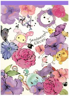 San-x Sentimental Circus Garden Roses Letter Pad