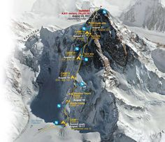 Climbing routes For K2