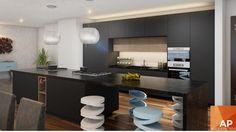 #interiorismo #diseño #interiores #cocina #black #florense #kitchen #cocinanegra www.aparquitectos.mx
