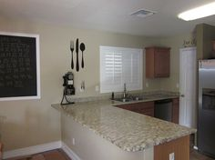 I finished painting my kitchen countertops this weekend.