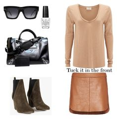 Going nude by kinang on Polyvore featuring polyvore, fashion, style, American Vintage, Mason by Michelle Mason, ASKA, Balenciaga, CÉLINE and OPI