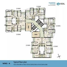 Wing-A Typical Floor Plan