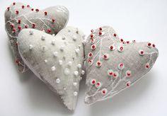 Soft Cristmas hearts by Julia Kolbaskina, via Flickr