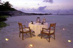 Seychelles Honeymoon  Romance; Romantic star-lit dinners on the beach in beautiful Seychelles.