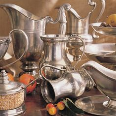 Pewter serving pieces