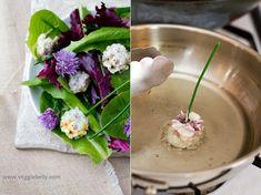 Chive flower tempura salad <3