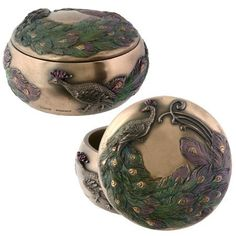 Embellished with a peacock motif, this miniature box is perfect for storing all sorts of small items. The incorporation of art nouveau design elements make it a fitting addition to the home or office Peacock Jewelry, Peacock Art, Peacock Decor, Peacock Colors, Art Nouveau Design, Art Deco, Peacock Pictures, Peacock Pics, Jewelry Insurance