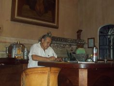 Bartender at the Tesorus Hotel