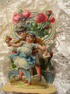 Antique Chromo Germany Die Cut Valentine Pop Up 3D Stand Up Embossed | eBay