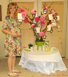 This adorable owl themed shower was thrown in honor of Baby Claire and her sweet mommy Tiffany. My client, Debi, Tiffany's aunt, purchased a couple games from me for the occasion and wanted to knowif I would be able to put a cute little owl on my clothesline design – what a cute idea! I loved it! When she sent me thesepictures I instantly wished