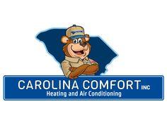 Carolina Comfort Logo and Mascot Design Mascot Design, Custom Website, Marketing Materials, Winnie The Pooh, Disney Characters, Fictional Characters, Logos, Logo, Pooh Bear