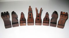 Mid century carved funky wood chess set.
