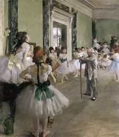 Artist : Edgar Degas Year : Between 1871 and 1874 Type : Oil paint on canvas Dimensions : 85 x 75 cm in × 30 in) Location : Musée d'Orsay, Paris Period: Impressionism Edgar Degas, Degas Ballerina, Ballerine Degas, Degas Paintings, Ballerina Painting, Ballerina Project, Hieronymus Bosch, Ballet Class, Dance Class