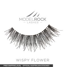 A MODELROCK original design, MODELROCK Lashes - Wispy Flowerare part of the Brushed Up for that natural, fluttery look. MODELROCK Signature Lashes - Wispy Flowergives your lashes definition, giving a wispy, feathered look.