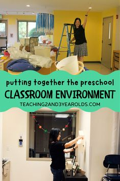Creating a classroom design can be overwhelming, especially when obstacles are in the way. Watch how I transform my toddler and preschool classroom from scratch, getting it ready for open house and parent night! #toddler #preschool #classroom #design #firstday #backtoschool #education #teacher #environment #organization #age2 #age3 #teaching2and3yearolds