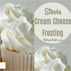 Enjoy this recipe for sugar free cream cheese frosting using Stevia as the sweetener. This is a tasty frosting that easy to make. Stevia Recipes, Low Sugar Recipes, Healthy Recipes, Cake Recipes, Dessert Recipes, Diabetic Cake, Diabetic Desserts, Low Carb Desserts, Diabetic Foods