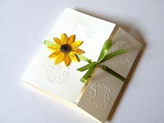 Quilled invitations