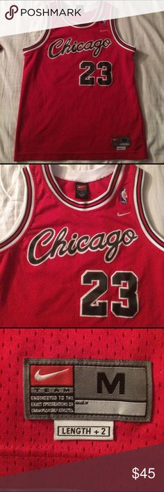 Chicago bulls Michael Jordan jersey Nike team Michael Jordan jersey in good condition no tears or rips and stitching is still all together Nike Shirts