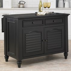 Bethany Kitchen Island with Granite Top
