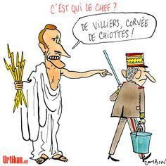 La crise d'égo de Macron face au général de Villiers - Dessin du jour - Urtikan.net