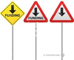 Funding Down Sign