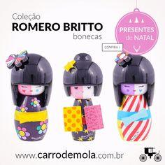 As Bonecas Decorativas da linha Romero Britto são super fofas e cheias de estilo! Aproveite para presentear quem você gosta!  http://carrodemo.la/8764e #presentesdenatal #natal #fimdeano #bonecasdecorativas  #romerobritto #charmosas #superfofas