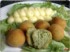 Cuketové guličky so zemiakovou kašou Bruschetta, Baked Potato, Feta, Ale, Potatoes, Eggs, Baking, Breakfast, Ethnic Recipes
