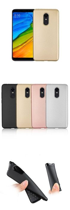 Soft Carbon Fiber Phone Case For Xiaomi Redmi 5 Plus -$3.32