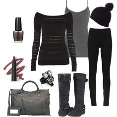 """Leggings and Boots Look #1"" by socialcafemagazine on Polyvore"