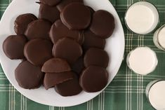 """It's always """"cookie time"""" when you can make these copycat cookies at home. A slightly crispy thin mint-flavored cookie is coated in chocolate to create the flavor pairing you love. Chocolate Mint Cookies, Chocolate Candy Melts, Thin Mint Cookies, Chocolate Biscuits, Cookie Desserts, Just Desserts, Cookie Recipes, Dessert Recipes, Girl Scout Cookies Recipes"""
