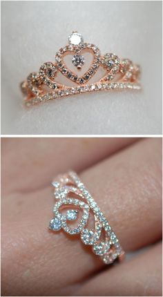 Engagement Rings Ideas & Trends 2017 - DISCOVER Princess crown ring Discovred by. - Engagement Rings Ideas & Trends 2017 – DISCOVER Princess crown ring Discovred by : ning ning - Cute Rings, Pretty Rings, Beautiful Rings, Beautiful Pictures, Cute Jewelry, Jewelry Rings, Jewelry Accessories, Jewelry Ideas, Craft Jewelry