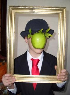 Magritte costume. This has to be the most clever and easy/inexpensive costume I've ever seen...