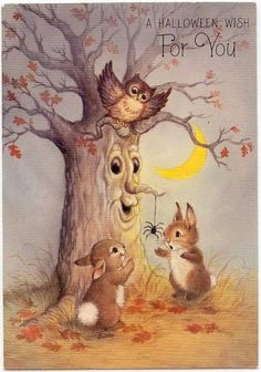 Vintage Halloween Cards, Retro Halloween, Halloween Quotes, Halloween Pictures, Halloween Signs, Holidays Halloween, Spooky Halloween, Halloween Crafts, Happy Halloween