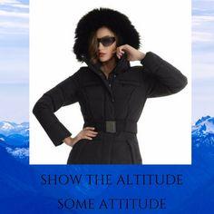 Showing the some attitude today Black Ski Jacket, Ski Wear, Ski Fashion, Winter Sports, Winter 2017, Skiing, Attitude, Ski Jackets, Snow