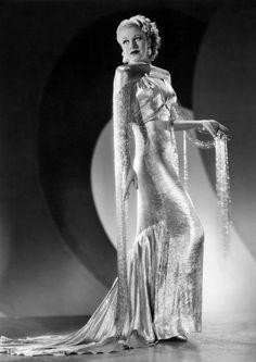 """Ginger Rogers, 1935, Roberta, """"I Won't Dance"""" dress by Bernard Newman."""