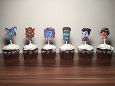 Super Monsters Cupcake Toppers (set of by TaimCreations on Etsy Monster Birthday Cakes, Monster 1st Birthdays, Monster Cupcakes, Monster Birthday Parties, Monster Party, First Birthdays, Combined Birthday Parties, Birthday Cup, Birthday Ideas