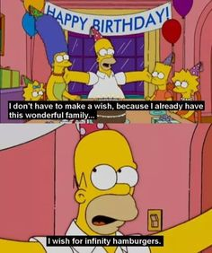 Image via We Heart It https://weheartit.com/entry/163672947 #birthday #funny #thesimpsons #familiy #homerosimpson