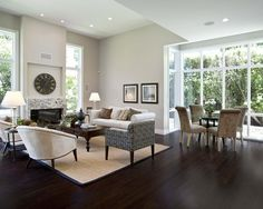 Grey Living Rooms With Dark Floors And Espresso Furniture Design, Pictures, Remodel, Decor and Ideas